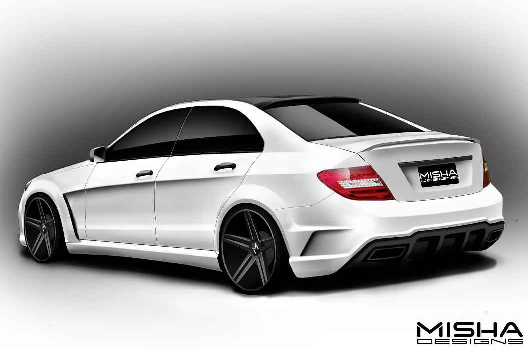 misha designs new mercedes c class wide body kit