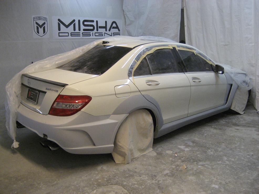 Misha designs new mercedes c class wide body kit page for Mercedes benz c300 turbo kit