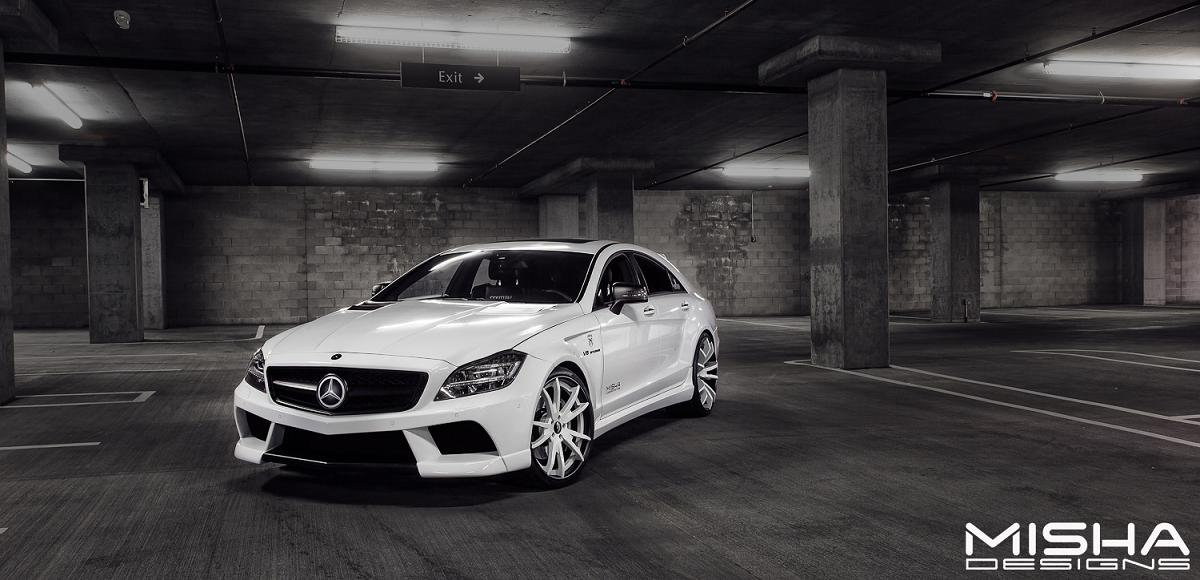 Misha designs cls body kit on custom couture cls 63 amg for Mercedes benz body shop miami